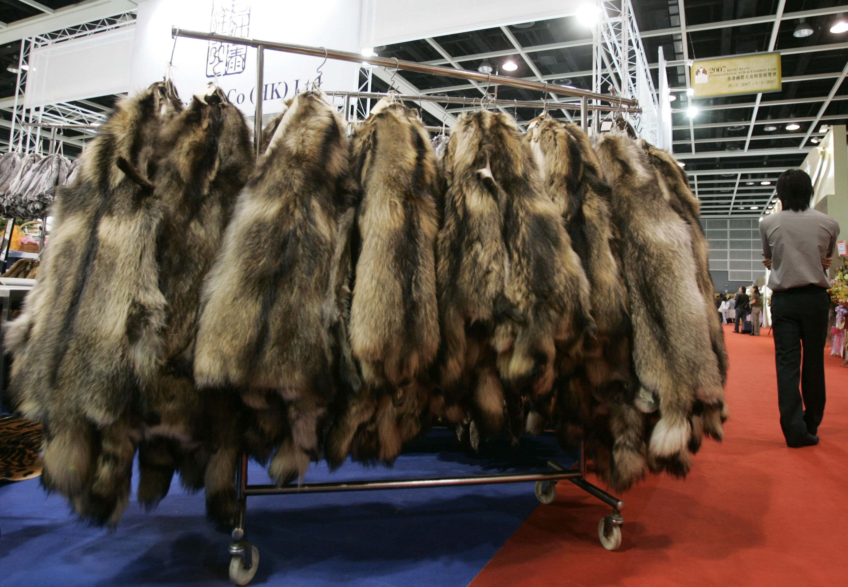 Fur is displayed at a booth during the Hong Kong International Fur and Fashion Fair in Hong Kong in this February 26, 2007 file photo. While fur industry insiders gush about growing sales and new frontiers, public relations remains the crucial battleground, bar none, for a $13.5 billion fur industry dogged by accusations of being inhumane and unnecessary. To match feature FUR/ REUTERS/Paul Yeung (CHINA)